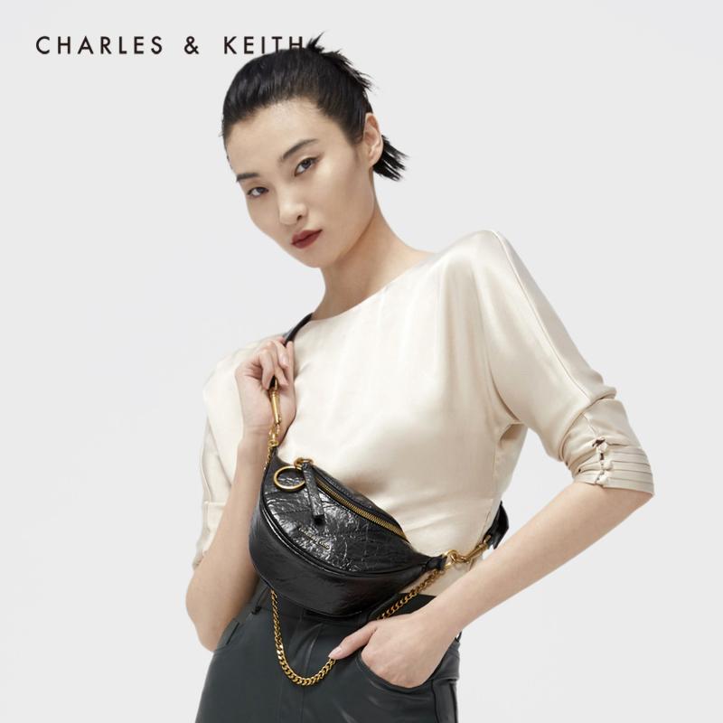女士链条单肩斜挎包胸包 1 80150954 CK2 秋新品 KEITH2020 & CHARLES