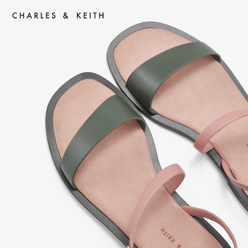 斜袢带饰女士露趾凉鞋 70380719 CK1 凉鞋 KEITH & CHARLES