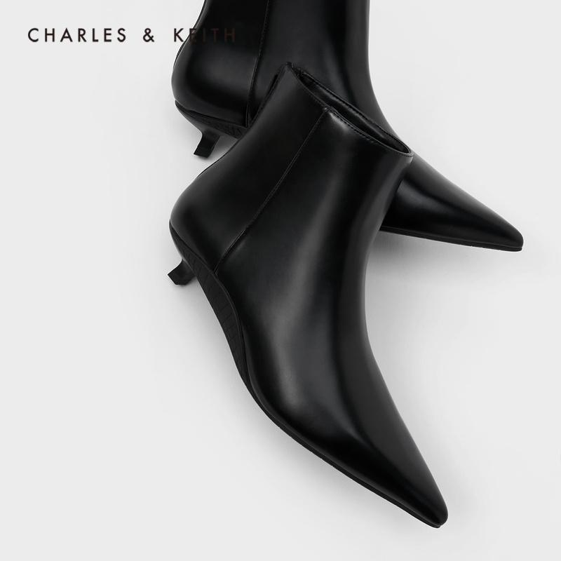 【小CK】女休闲拉链中跟短靴