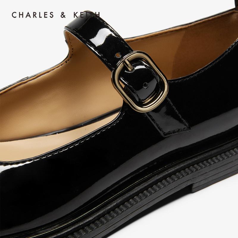 时尚亮面女士休闲低跟单鞋 71680026 CK1 春新品 KEITH2020 & CHARLES