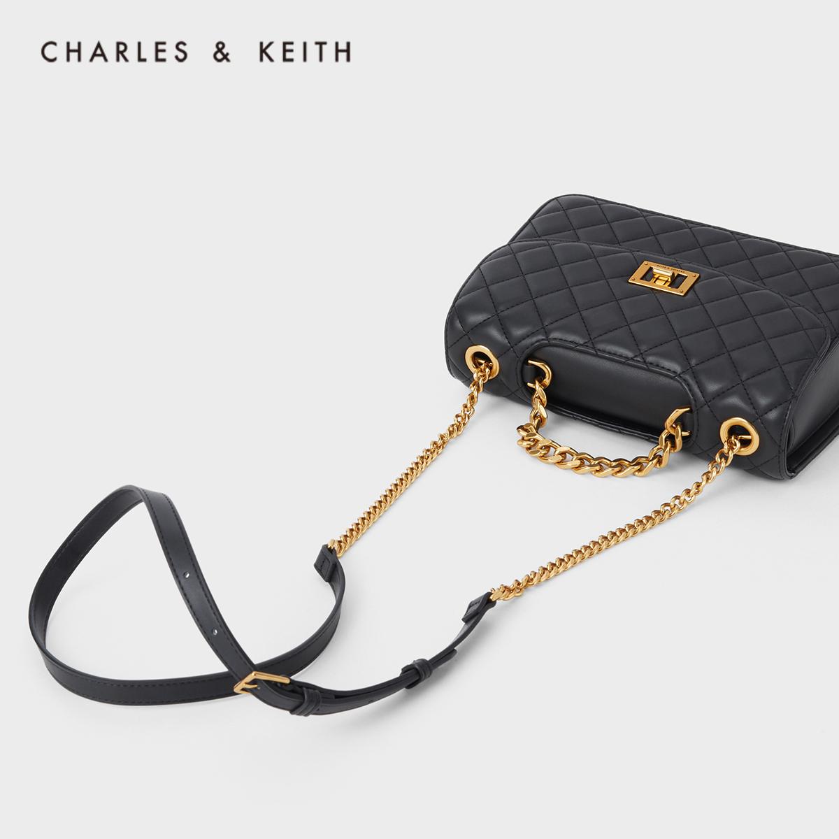 女士链条单肩包菱格包 1 70701062 CK2 秋季新品 KEITH2020 & CHARLES