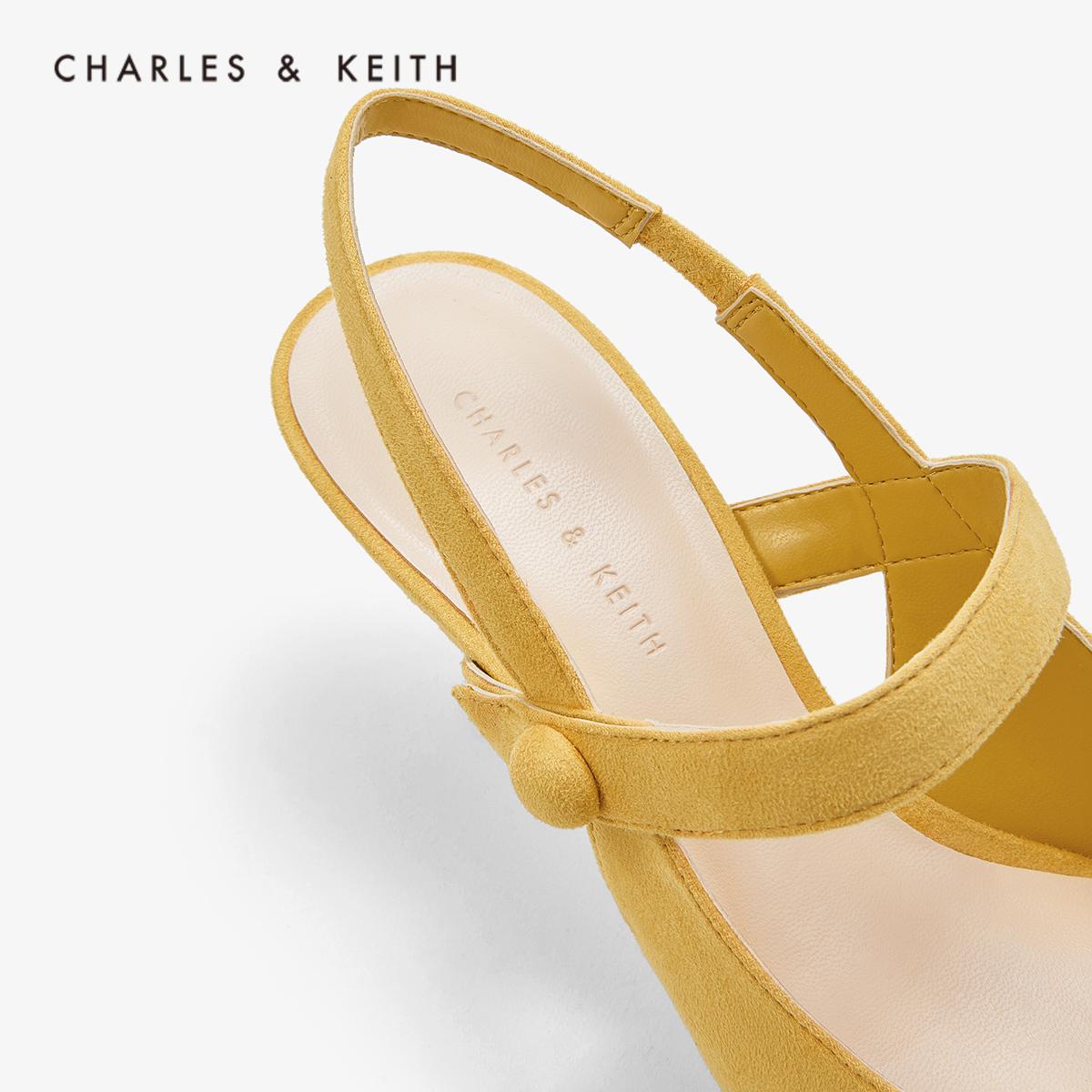 绊带饰女士方头高跟鞋 61680049 CK1 低帮鞋 KEITH & CHARLES