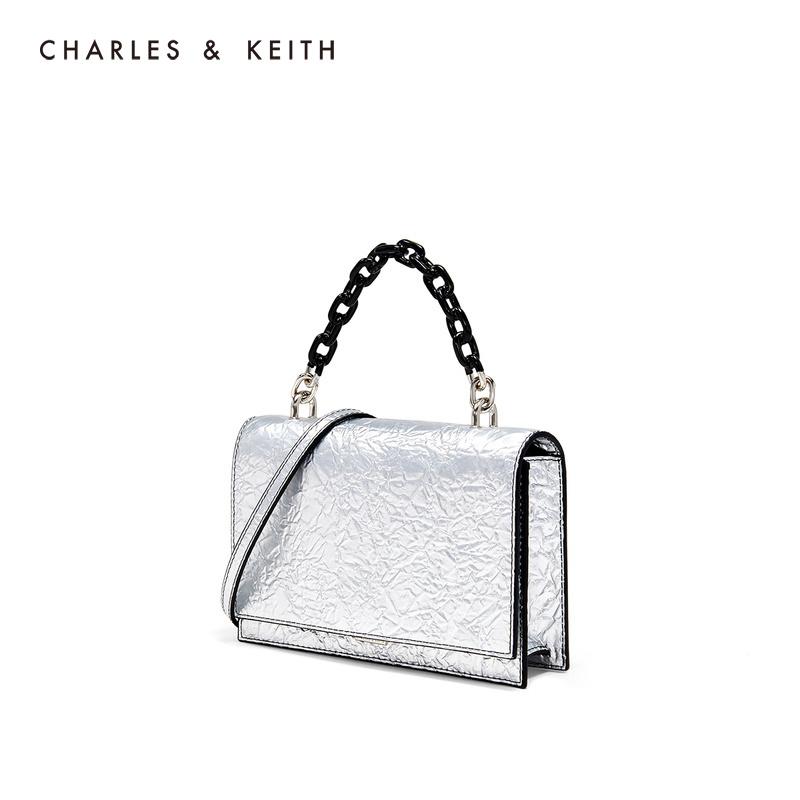 金属链条材质拼接饰女士链条包 50770374 CK2 单肩包 KEITH & CHARLES