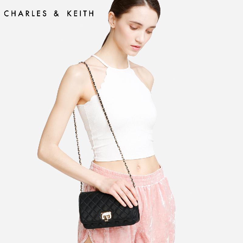 菱格金属链条女士单肩包 70700460 CK2 菱格包 KEITH & CHARLES