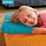 INTEX flocking inflatable travel pillow inflatable outdoor camping portable home air pillow cushion lumbar pillow