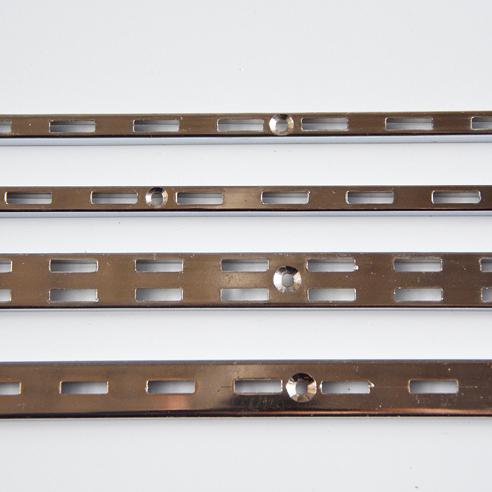 AA柱条双排加厚金属A柱服装墙上卡条货架展柜竖条墙轨上墙a柱aa条