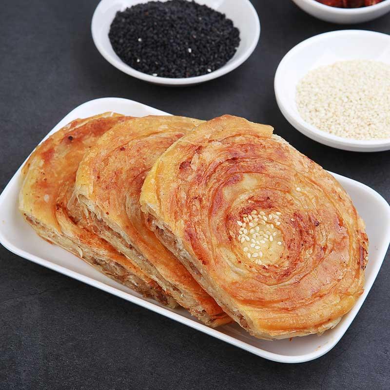 10个军屯锅四川成都地方特色小吃葱饼麻辣特产锅盔糕点零食