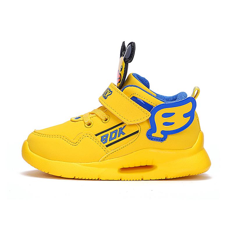 小黄鸭童鞋儿童运动鞋男女童秋冬新款宝宝加绒保暖二棉潮鞋 B.Duck