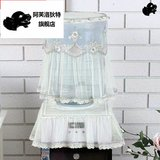 Free shipping high-grade fabric lace two-piece dispenser bucket vat Universal dust cover Korean garden fountains