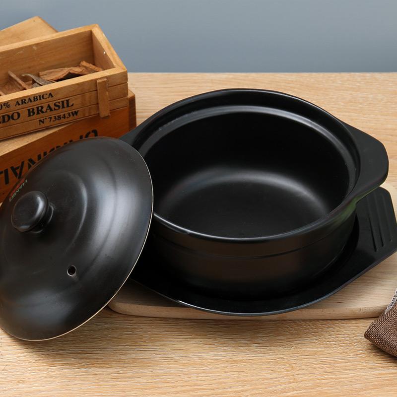 华美冠砂锅明火耐热煲汤炖锅砂锅米线土豆粉丝专用陶瓷沙锅干烧小