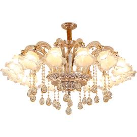 优尔莱 欧式吊灯客厅锌合金水晶灯简欧餐厅卧室奢华大气现代吊灯