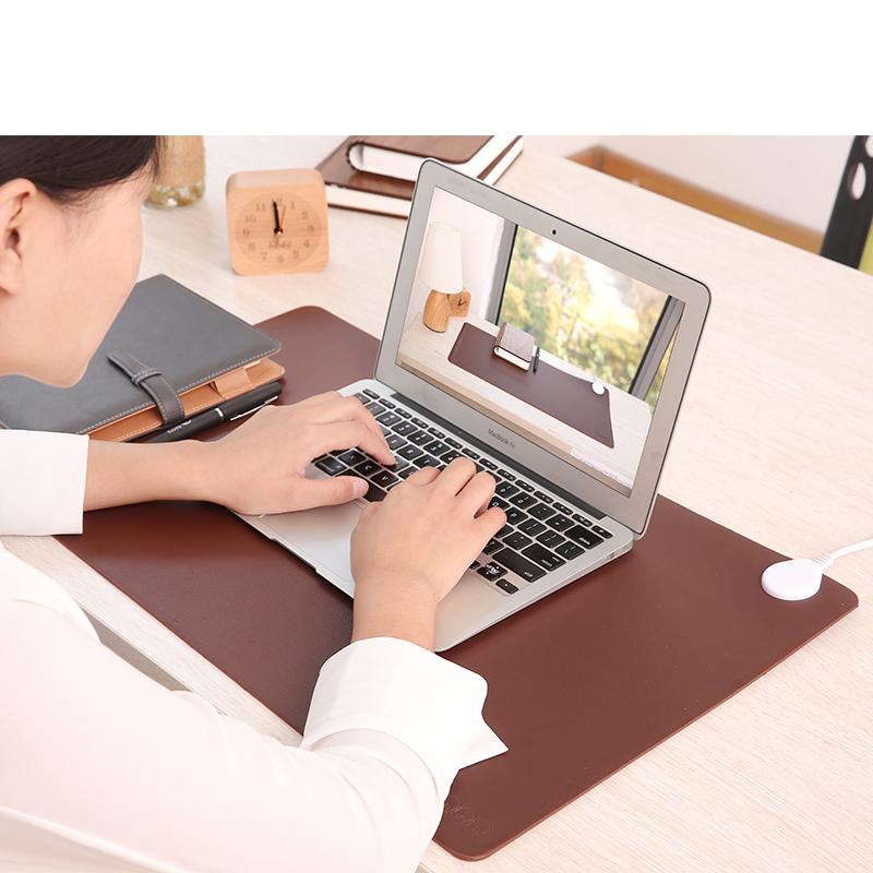 日本暖桌垫办公室电脑加热鼠标垫电热桌面发热学生书桌写字暖手垫