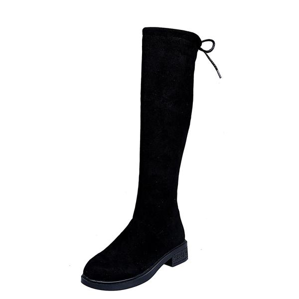 【统一价】秋冬长筒弹力布长筒靴