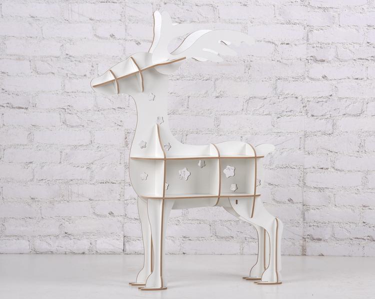 圣诞驯鹿书架 圣诞节装饰 创意摆设客厅新款家居橱窗动物书桌家具