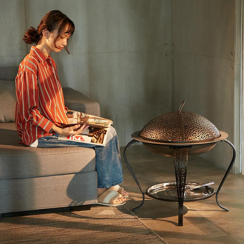 取暖炉子家用煤炭户外烧烤架无烟碳火炉木炭火盆烤火炉室内炭火盆