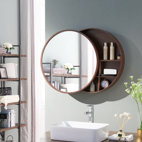 Wall Bathroom Mirror Bathroom Mirror Cabinet With Storage Cabinets Wood Circular Mirror Cabinet Mirror Bathroom Vanity