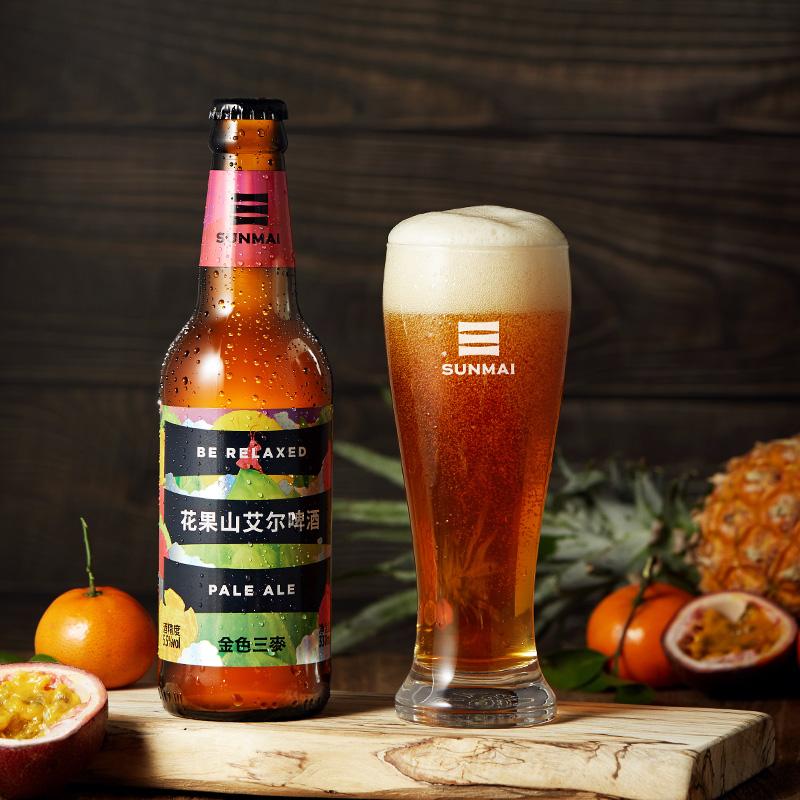 临期新低!世界啤酒大赛金牌:330mlx4支 SUNMAI金色三麦 花果山艾尔精酿啤酒
