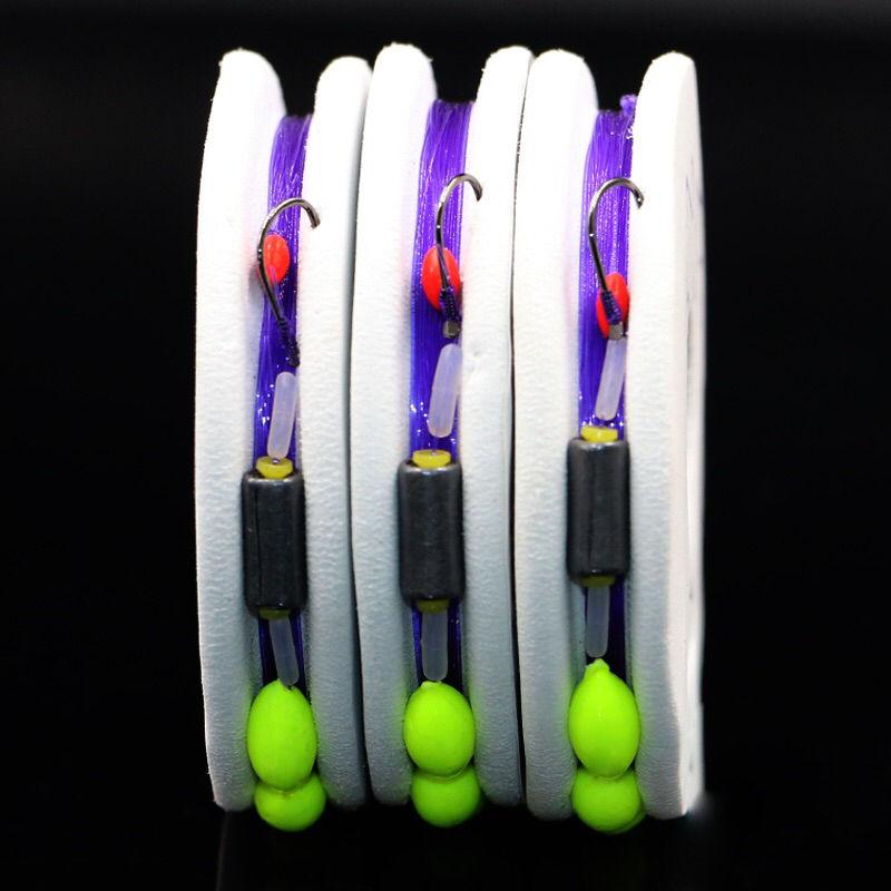 传统钓七星漂线组 鱼线  浮漂鱼漂鱼钩绑好主线组成品渔具用品套装