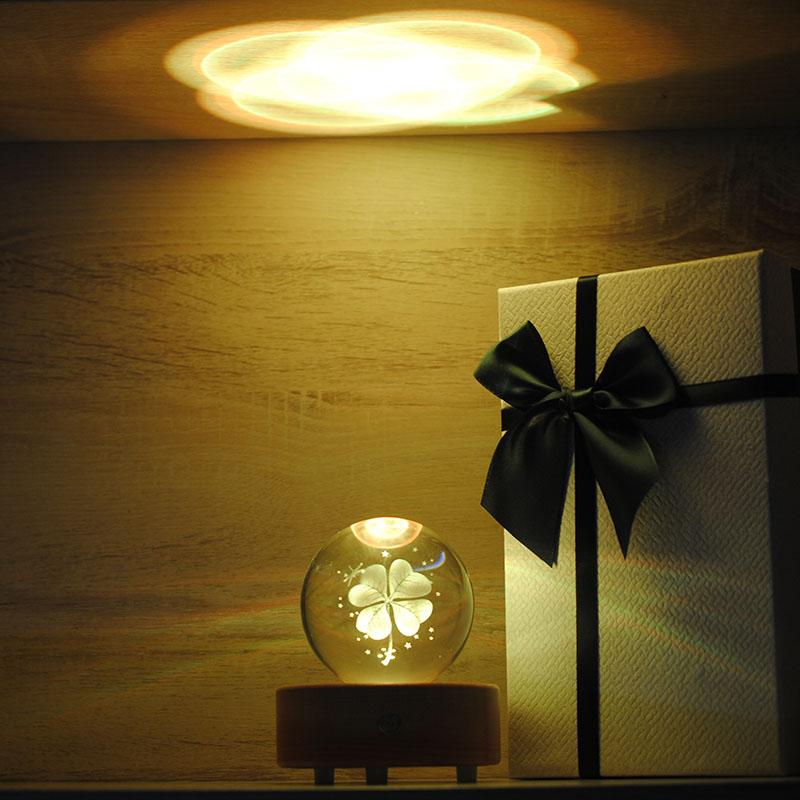 水晶球蒲公英麋鹿木质音乐盒八音盒创意生日礼物情人节送女生 520