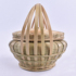 Hand-woven bamboo basket with lid, tea cake handle, bamboo woven basket, first layer, bamboo green strip, egg basket, hand-woven bamboo basket, with lid