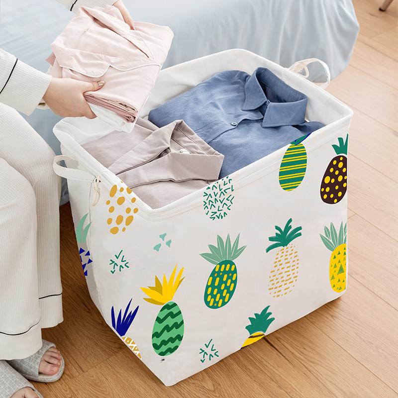 超大号衣服收纳筐布艺家用搬家袋棉被子整理箱衣物收纳盒收纳神器