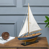American wooden sailing ship model assembled by hand Desktop window ornaments home decor wood boat simulation process