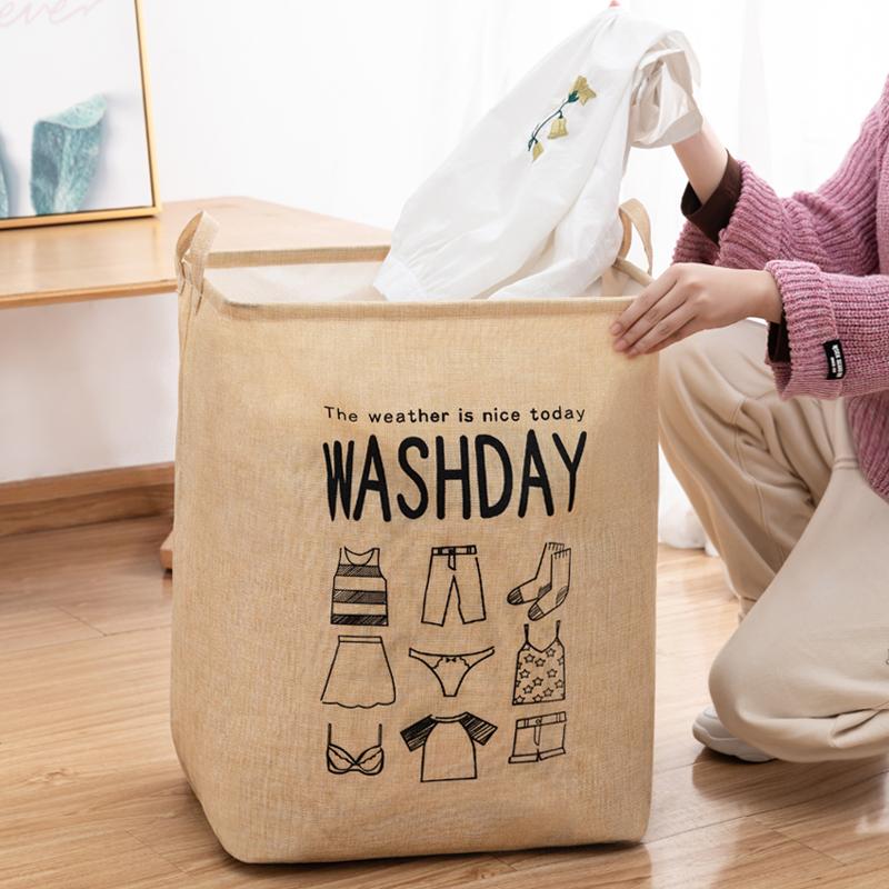 布艺衣服收纳箱收纳神器家用柜子装衣物箱子整理盒大号折叠收纳筐