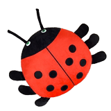 Seven star ladybug plush toy doll beetle doll insect pillow rag doll cute doll sleeping pillow female