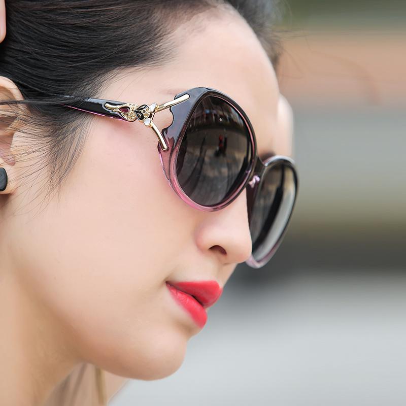 太阳镜女防紫外线2019时尚偏光女士圆脸墨镜韩版潮明星款大脸眼镜