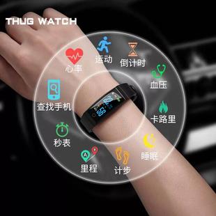 led触屏智能手表运动多功能手环电子表