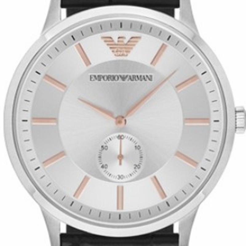 阿玛尼手表EMPORIOARMANI黑色时尚商务休闲石英腕表防水AR9113