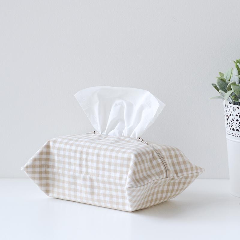述物原创 日式布艺棉纸巾袋抽纸巾包 创意纸巾盒抽纸盒车载纸巾套