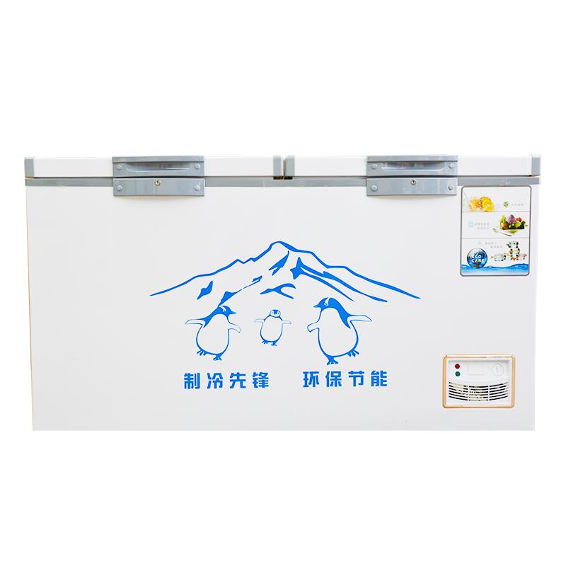 冰柜商用大容量冷藏冷冻卧式超大速冻小型超市雪糕冰柜 618L 墨香雪