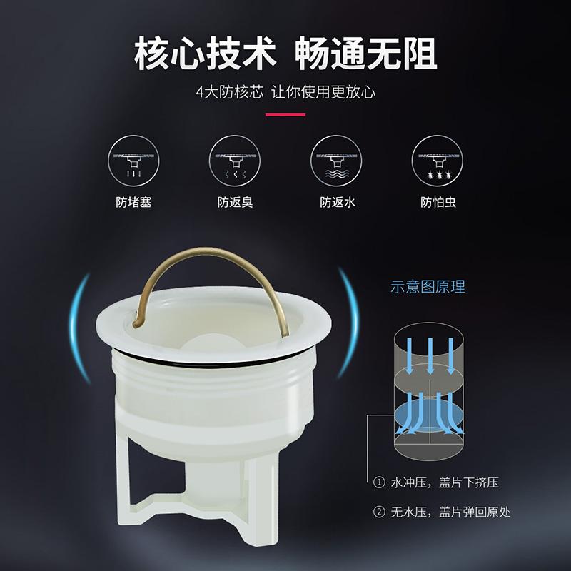 箭牌卫浴卫生间地漏洗衣机地漏不锈钢地漏套装防堵防塞地漏配件