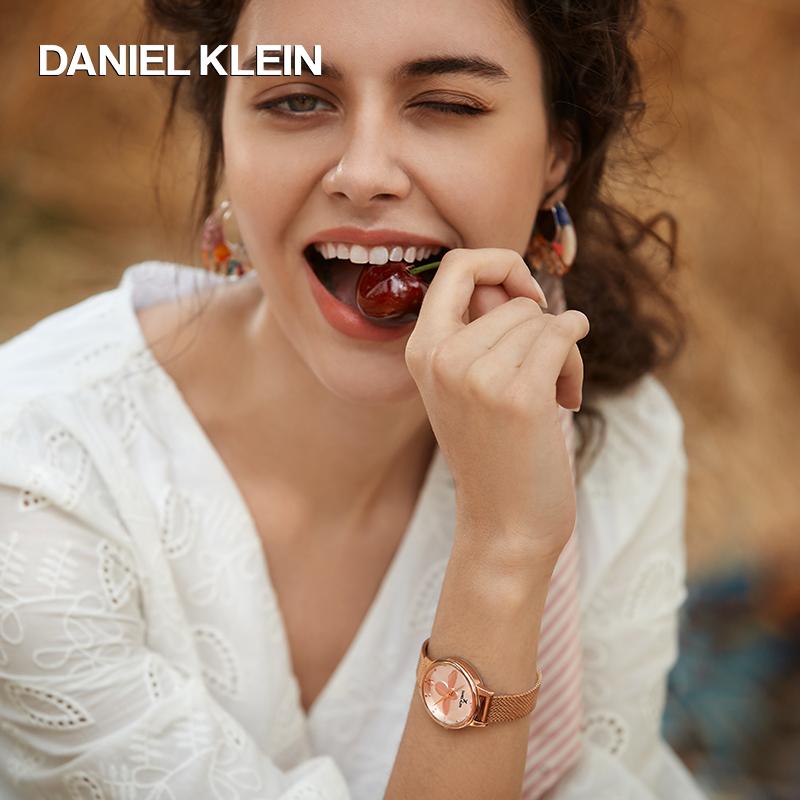 Daniel Klein手表女正品进口女士简约小众小蜜蜂手表女dk腕表石英