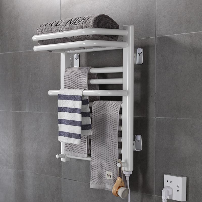 爱碧泉智能电热毛巾架浴室卫生间电加热恒温碳纤维烘干浴巾置物架