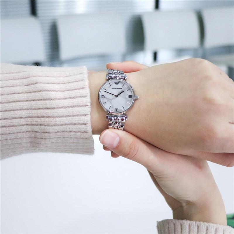 Armani阿玛尼手表女新款简约休闲正品女士防水石英腕表AR11170