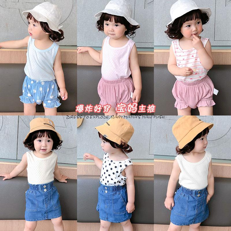 男童无袖纯棉背心T恤夏装童装儿童宝宝薄款1岁3上衣夏季小童婴儿