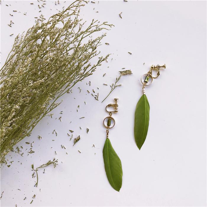 「TWINZ 听之 合集」橄榄绿系列 原创性感韩国气质无耳洞耳夹耳环