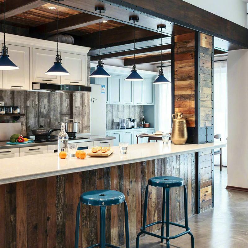 实木复古木地板彩色老木板旧木板装饰仿古装修原木色松木板背景墙