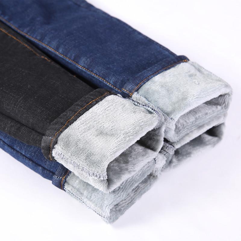 加绒牛仔裤女冬季2018新款韩版显瘦高腰带绒加厚保暖常规小脚裤子