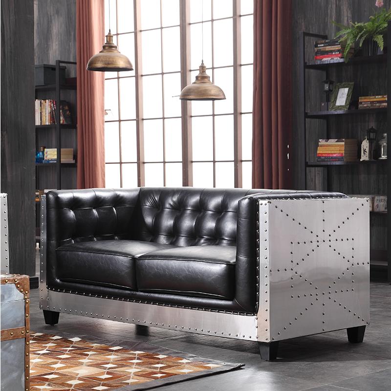 北歐工業風沙發三人位美式loft復古卡座個性創意沙發工業風 簡約