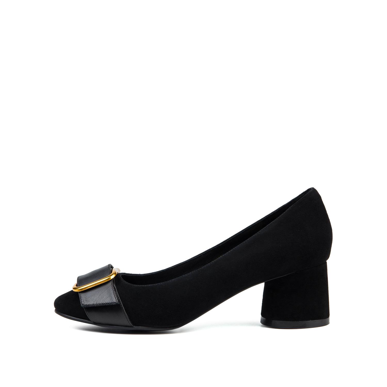 SS73111215 星期六春季浅口皮带扣粗跟方头高跟女鞋单鞋 Sat & St