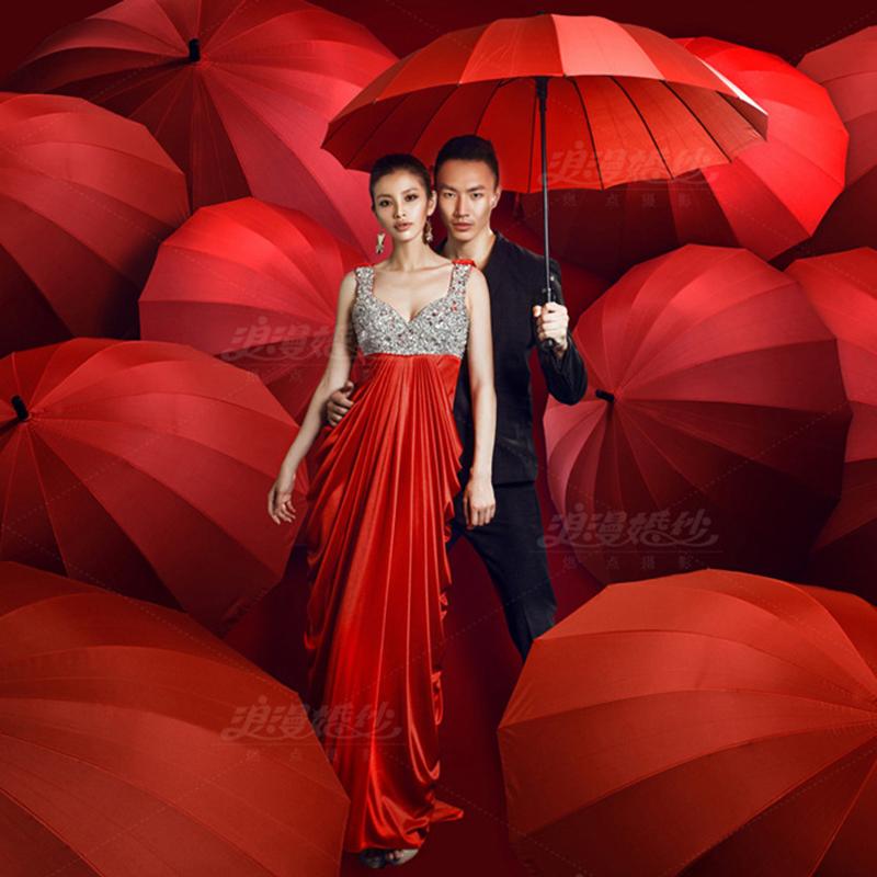 2018新款婚纱摄影道具大黑伞红伞 影楼写真主题拍照拍摄道具雨伞