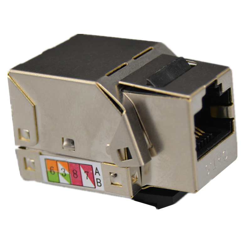 六类屏蔽网络模块 CAT6屏蔽模块 安普接口 打线六类网线模块