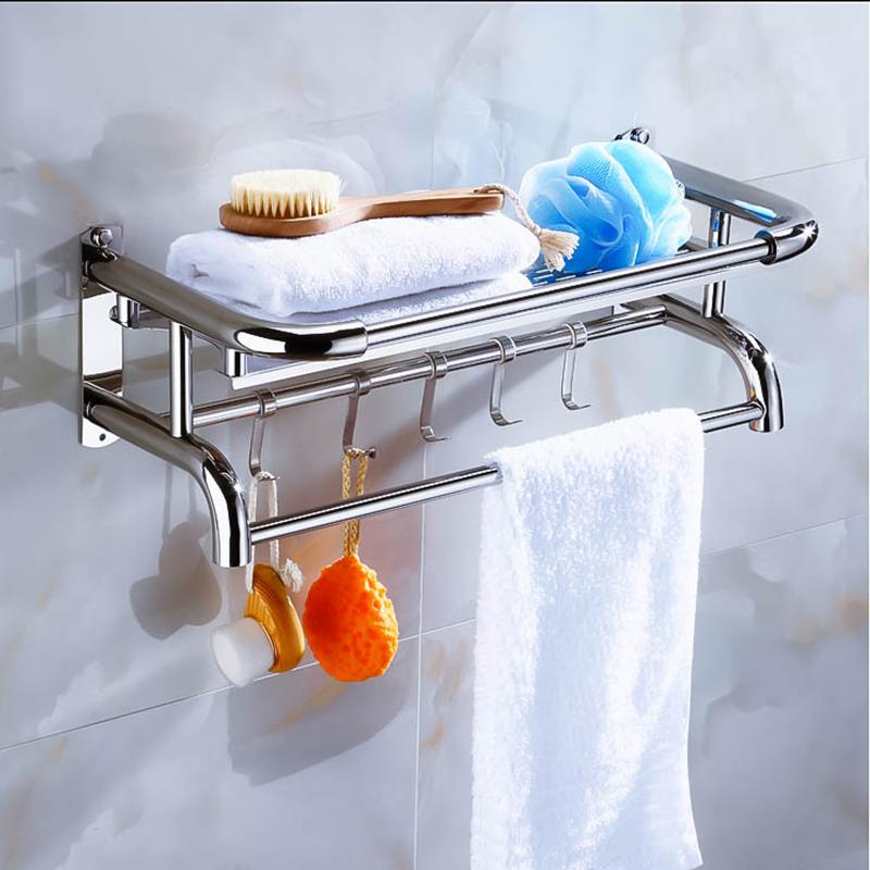 层免打孔三层壁挂加厚 3 不锈钢毛巾架洗手间浴室置物架卫生间多 304