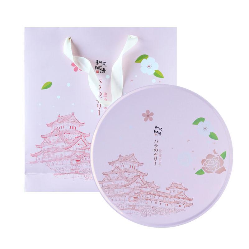 和风细语日式樱花味果冻布丁礼盒水信玄饼少女高颜值零食生日礼物