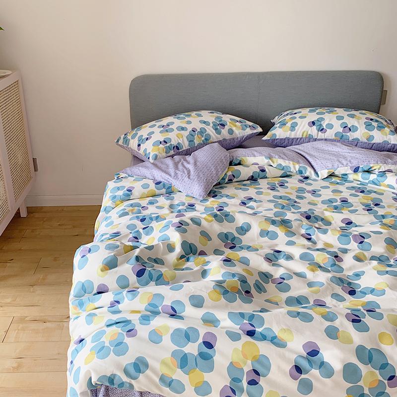 棉全棉床单床笠四件套