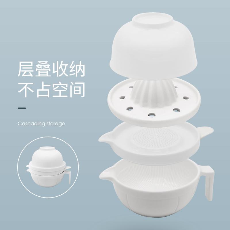 婴儿辅食研磨器手动宝宝研磨碗陶瓷儿童辅食工具套装刀具果泥神器