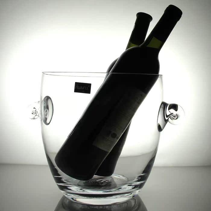 特价超实用3款冰桶 华富水晶玻璃大号酒吧冰桶香槟桶 家用红酒桶